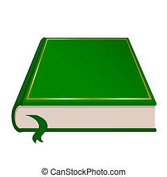 Vector de libros verdes