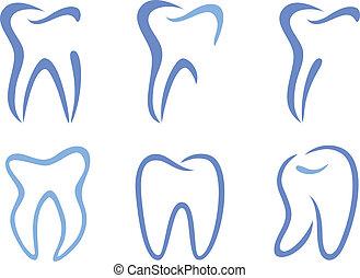 vector, dientes