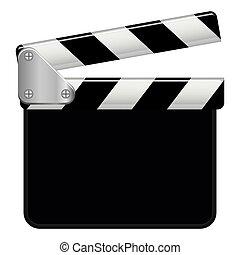 vector, gráfico, ilustración, copyspace, clapperboard
