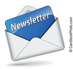 vector, newsletter, icono