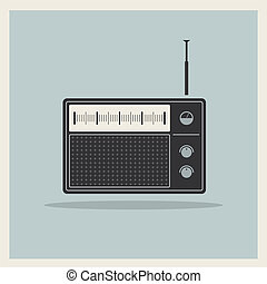 vector, radio, retro, receptor