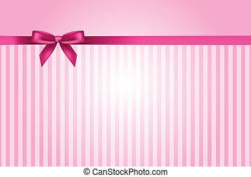 Vector rosado con arco