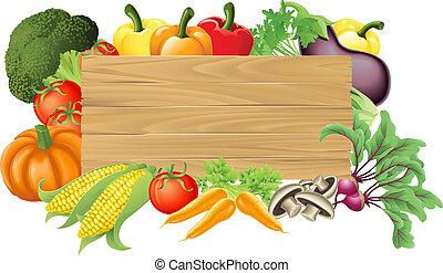 vegetal, de madera, ilustración, señal