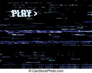 vhs, plano de fondo, pantalla, glitch, error, televisión, ruido