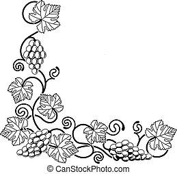 vid, uva, elemento del diseño