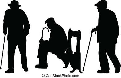 Viejos con bastón