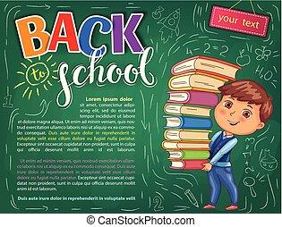Volver a la ilustración de la escuela para su texto