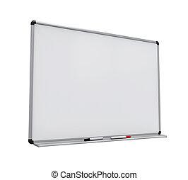 whiteboard, aislado, blanco