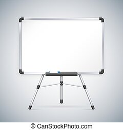whiteboard, oficina, trípode