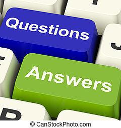 wiki, conocimiento, llaves, actuación, respuestas, computadora, preguntas, apoyo