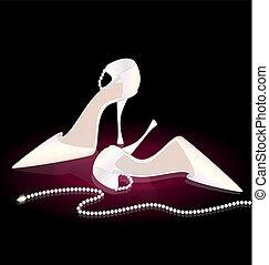 Zapatos de mujer blanca